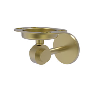 Satellite Orbit Two Satin Brass Four-Inch Tumbler and Toothbrush Holder
