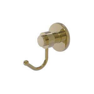 Mercury Unlacquered Brass Three-Inch Robe Hook