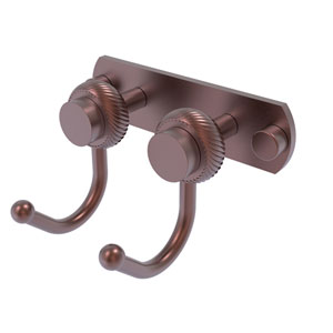 Mercury Antique Copper Four-Inch Two-Position Multi Hook with Twisted Accent