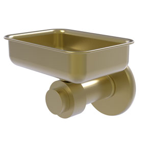 Mercury Satin Brass Four-Inch Wall Mounted Soap Dish