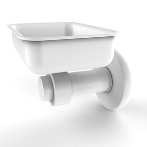 Mercury Matte White Four-Inch Wall Mounted Soap Dish