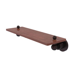 Astor Place Antique Bronze 16-Inch Solid IPE Ironwood Shelf