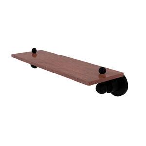 Astor Place Matte Black 16-Inch Solid IPE Ironwood Shelf