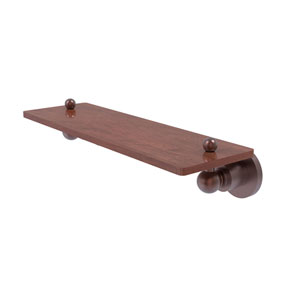 Astor Place Antique Copper 16-Inch Solid IPE Ironwood Shelf