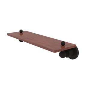 Astor Place Oil Rubbed Bronze 16-Inch Solid IPE Ironwood Shelf