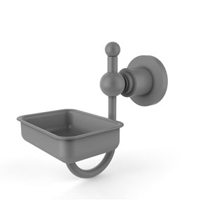 Astor Place Matte Gray Four-Inch Wall Mounted Soap Dish
