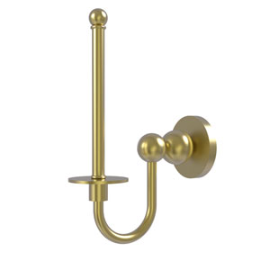 Bolero Satin Brass Three-Inch Upright Toilet Tissue Holder