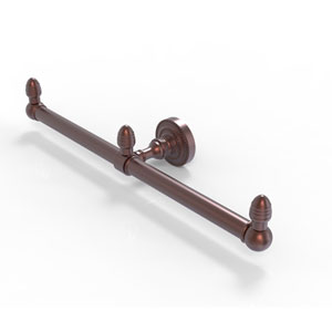 Dottingham Antique Copper Four-Inch Two Arm Guest Towel Holder
