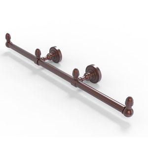 Dottingham Antique Copper Four-Inch Three Arm Guest Towel Holder