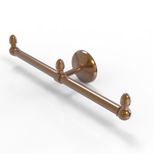 Monte Carlo Brushed Bronze Four-Inch Two Arm Guest Towel Holder