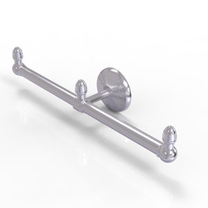 Monte Carlo Satin Chrome Four-Inch Two Arm Guest Towel Holder