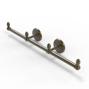 Monte Carlo Antique Brass Four-Inch Three Arm Guest Towel Holder