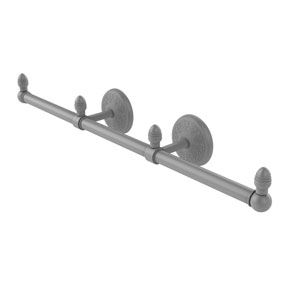 Monte Carlo Matte Gray Four-Inch Three Arm Guest Towel Holder