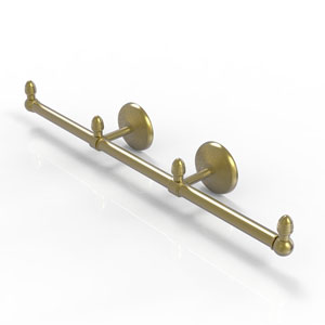 Monte Carlo Satin Brass Four-Inch Three Arm Guest Towel Holder