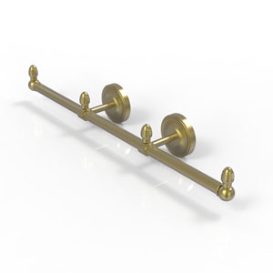 Prestige Regal Satin Brass Four-Inch Three Arm Guest Towel Holder