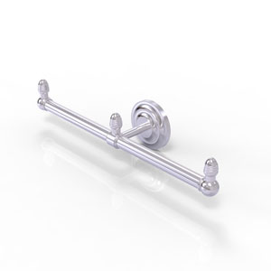 Que New Satin Chrome Four-Inch Two Arm Guest Towel Holder