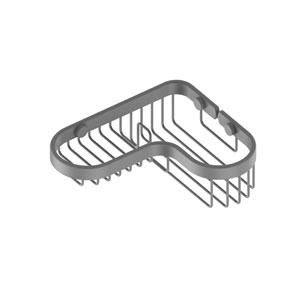 Matte Gray Seven-Inch Corner Combination Shower Basket