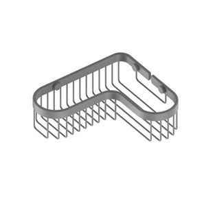 Matte Gray Eight-Inch Corner Toiletry Shower Basket