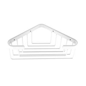 Matte White Six-Inch Toiletry Corner Shower Basket