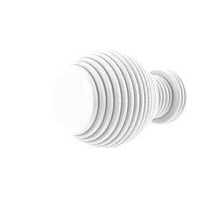 Matte White One-Inch Cabinet Knob