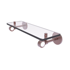 Clearview Antique Copper 16-Inch Glass Shelf