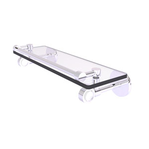Clearview Polished Chrome 16-Inch Glass Shelf with Gallery Rail