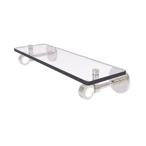 Clearview Satin Nickel 16-Inch Glass Shelf