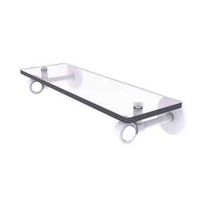 Clearview Matte White 16-Inch Glass Shelf