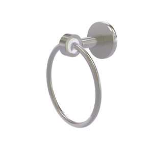 Clearview Satin Nickel Seven-Inch Towel Ring