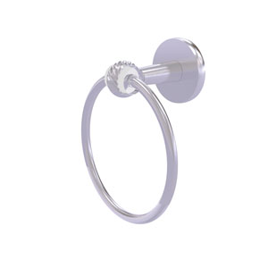 Clearview Satin Chrome Seven-Inch Towel Ring with Twist Accents