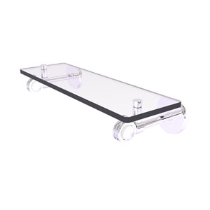 Clearview Polished Chrome 16-Inch Glass Shelf with Dotted Accents
