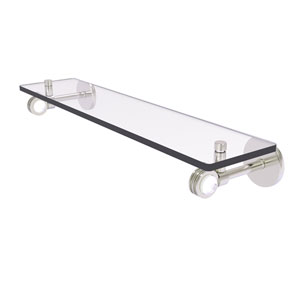 Clearview Satin Nickel 22-Inch Glass Shelf with Dotted Accents