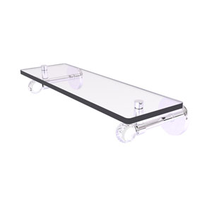 Clearview Polished Chrome 16-Inch Glass Shelf with Twisted Accents