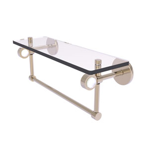 Clearview Antique Pewter 16-Inch Glass Shelf with Towel Bar