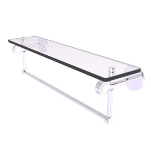Clearview Polished Chrome 22-Inch Glass Shelf with Towel Bar