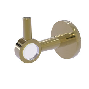 Clearview Unlacquered Brass Three-Inch Robe Hook