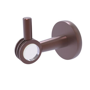 Clearview Antique Copper Three-Inch Robe Hook with Dotted Accents