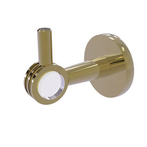 Clearview Unlacquered Brass Three-Inch Robe Hook with Dotted Accents