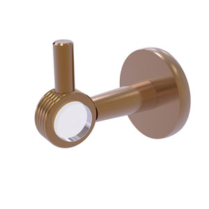 Clearview Brushed Bronze Three-Inch Robe Hook with Groovy Accents
