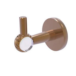 Clearview Brushed Bronze Three-Inch Robe Hook with Twisted Accents