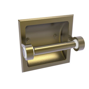 Clearview Antique Brass Six-Inch Recessed Toilet Paper Holder