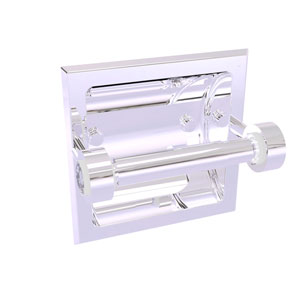 Clearview Polished Chrome Six-Inch Recessed Toilet Paper Holder