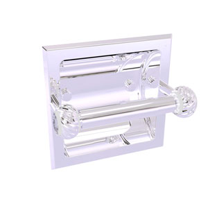 Clearview Polished Chrome Six-Inch Recessed Toilet Paper Holder with Twisted Accents