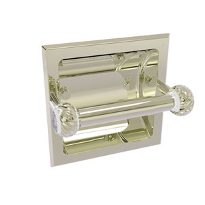 Clearview Polished Nickel Six-Inch Recessed Toilet Paper Holder with Twisted Accents