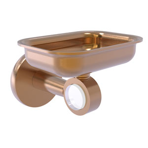 Clearview Brushed Bronze Four-Inch Wall Mounted Soap Dish Holder