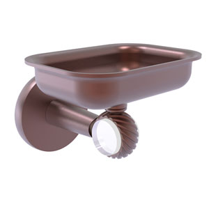 Clearview Antique Copper Four-Inch Wall Mounted Soap Dish Holder with Twisted Accents