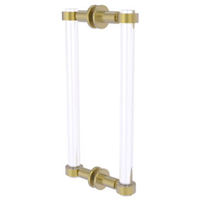 Clearview Satin Brass 12-Inch Back to Back Shower Door Pull