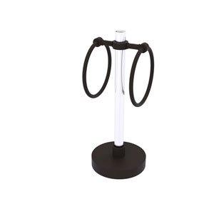 Clearview Oil Rubbed Bronze Six-Inch Vanity Top Guest Towel Ring