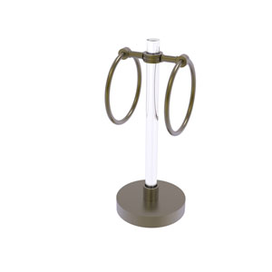 Clearview Antique Brass Six-Inch Towel Ring with Dotted Accents