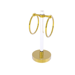 Clearview Polished Brass Six-Inch Towel Ring with Dotted Accents